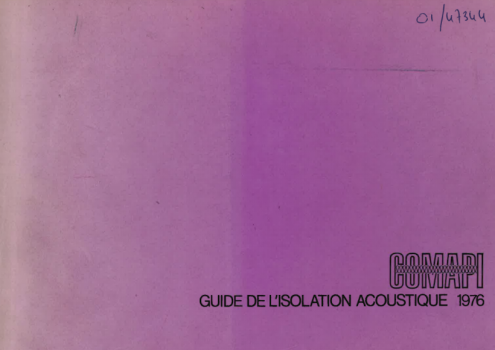 Guide de l'isolation acoustique 1976
